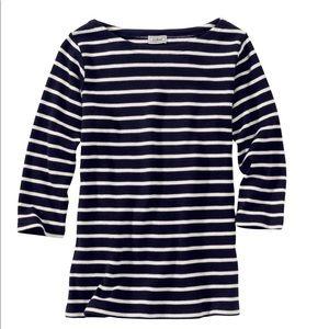 LL Bean Sailor's Shirt, Three-quarter Boatneck, 2X